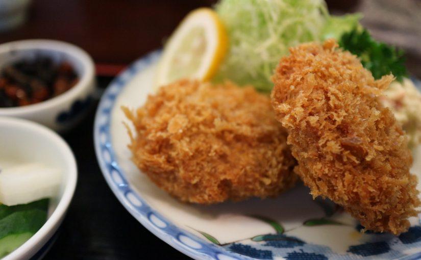 三島 とんかつ蘭でランチにメンチカツを食べたよ