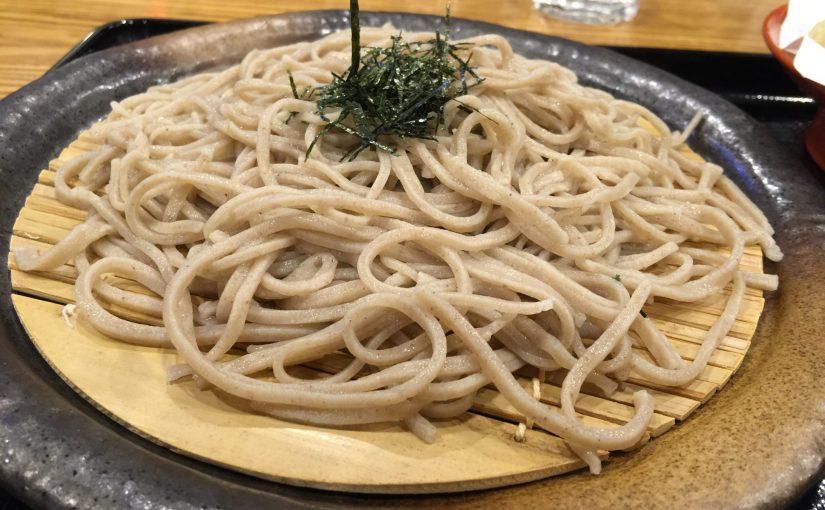 草津温泉 あおやま湯畑店で手打ち蕎麦と舞茸天ぷらを食べたよ