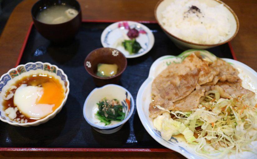 みやたや 草津温泉-地元の人が通う定食屋さん。生姜焼きがいい香りだった。