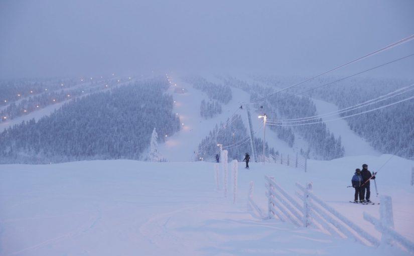 サーリセルカのスキー場-フィンランド旅行記