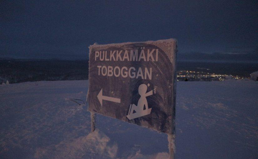 サーリセルカのスキー場で1.8kmのそりコースを体験-フィンランド旅行記